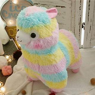 ZoCenterShop(TM) 虹アルパカソかわいいアルパカラマアルパカソ柔らかいぬいぐるみ人形ギフトかわいい