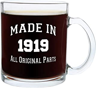 100th Birthday Gifts Made 1919 100th Birthday Party Supplies Gift Glass Coffee Mug Tea Cup White