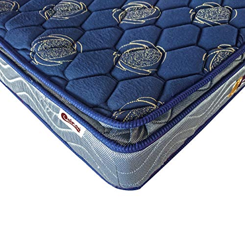 Coir-on 'Majestic' - Pillow Top - Bonnel Spring Mattress - 78X36X8 (Inch) - Blue
