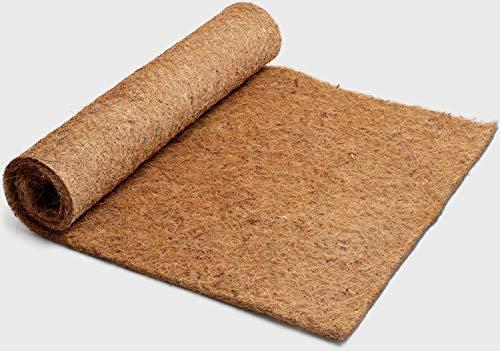 Nagerteppich aus 100% Kokosfasern, 100cm x 50cm, 7mm dick, Kokosmatte, für alle Arten Kleintiere, Nagermatte Nager-Teppich
