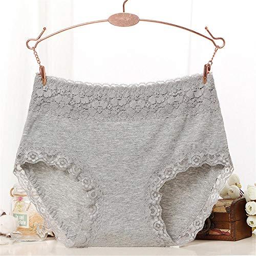 LTHH Spitzenhöschen, Damenunterwäsche aus Baumwolle, grau_L