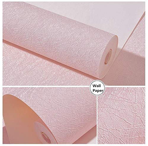 16' X 118' Pink Wallpaper Embossed Self Adhesive Peel and Stick Removable Home Decorative Vinyl Film Cabinet Furniture Countertop Solid Color Shelf Paper Silk