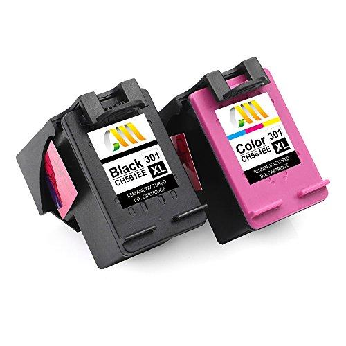 CMCMCM Remanufacturado Cartucho de Tinta Reemplazo para HP 301 XL 301XL para Deskjet 2540 1510 2050 1050 1000 3050 1050a Envy 4500 5530 Officejet 4630 2620 Impresora - Negro, Colour