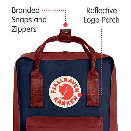 Fjallraven - Kanken Mini Classic Backpack for Everyday, Royal Blue/Ox Red