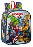 Safta Mochila Infantil de Avengers Heroes Vs Thanos, 220x100x270mm, azul marino/multicolor, M