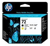 HP 72 Mattschwarz und Gelb Original Druckkopf für HP DesignJet