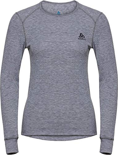 Odlo Shirt l/s Crew Neck Warm sous-vêtements Femme, Gris, XXS