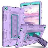 BENTOBEN Samsung Galaxy Tab A 10.1 Case 2019 T510/T515/T517, Heavy Duty Shockproof 3 Layer Hybrid Protective Case Cover for Galaxy Tab A 10.1 Inch 2019 Tablet SM-T510 SM-T515 SM-T517, Purple/Green