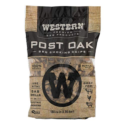 Western Premium BBQ Products Post Oak BBQ Smoking Chips 180 cu in