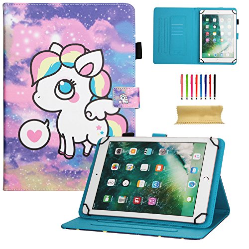 Universal 8.0 inch Tablet Case, Dteck Universal Kickstand Flip Wallet Case for All 7.5-8.5 inch iPad Mini, Galaxy Tab A 8.0, Tab S2 8.0, Tab E 8.0,Amazon Fire HD 8, Lenovo Tab Android IOS Tablet