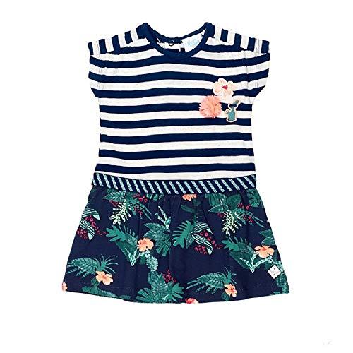 Feetje Baby-Mädchen Kleid Kurzarm Botanic Blush, Marine (010), 74