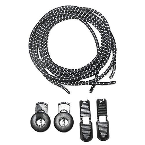 Demarkt 1 Paar Elastische Schnürsenkel - Gummi Schnellschnürsystem ohne Binden -für Kinder, Herren, Damen