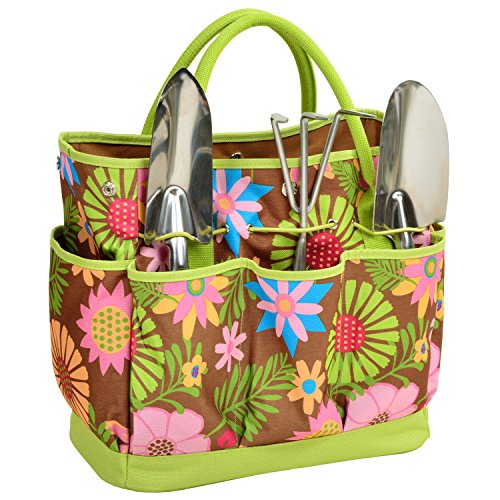Picnic at Ascot 341-F USA 3 Stainless Steel Tools-Designed & Assembled in, One Size, Floral