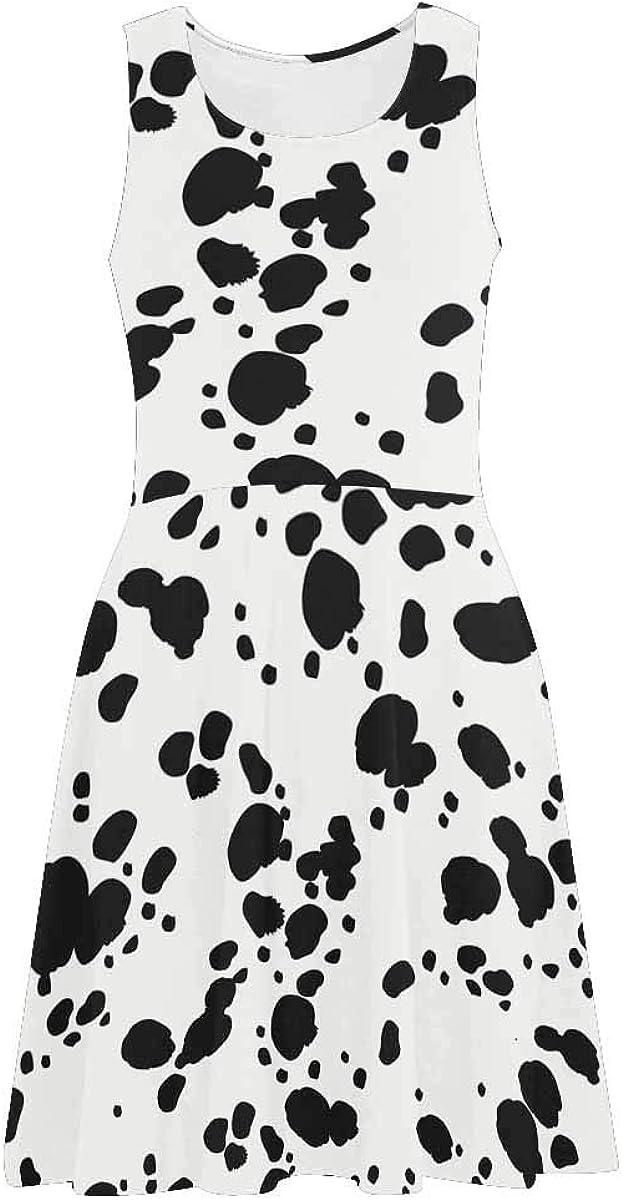 InterestPrint Dalmatians Animal Print Dr Tank Women's 5% OFF Sleeveless Max 67% OFF
