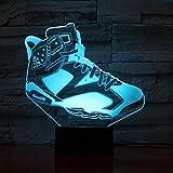 LED Night Light Jordan - Zapatillas deportivas para hombre, con sensor de baloncesto, 7 colores cambiantes