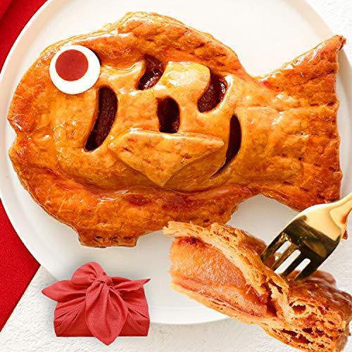 アップルパイ めで鯛 風呂敷包み 誕生日 [冷] 還暦 内祝い プレゼント お菓子 ギフト【13時までのご注文で即日出荷可能】