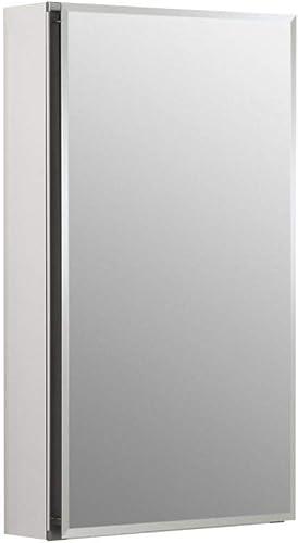 2021 Kohler sale K-CB-CLC1526FS Frameless 15 Inch X 26 Inch Aluminum Bathroom Medicine Cabinet; Recess online Or Surface Mount online sale