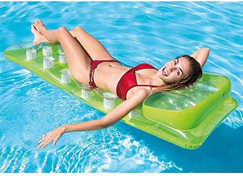 HJQFDC Faltpool, Wasser aufblasbare Matratze, PVC aufblasbare Spielzeug schwimmende reif schwimmende Bett Outdoor Schwimmbad, Wasser Spielzeug Party Spielzeug (Farbe: grün) Peng (Farbe: grün) MEI