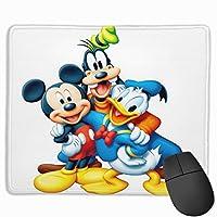 ドナルドダックとミッキーマウスが遊んでいます6 マウスパッド 滑り止めゴム底 付着力が強い 耐久性が良 おしゃれ 高級感 ゲーミング オフィス最適 30x25x0.3cm