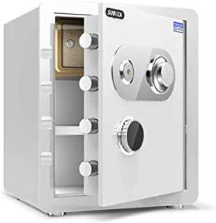 Cabinet Safes, Safes Mechanical, Small Steel for Home Office, Fireproof, Waterproof and Anti-Theft Cash Jewelry File Stora...