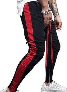 MogogoMen Baselayer Hip Hop Style Contrast Harem Running Trousers