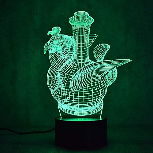 Creatieve 3D-LED-visueel kleurverlooplicht USB-tafellamp modesculptuur nachtlampje vlagon vaas lamp decoratief geschenk