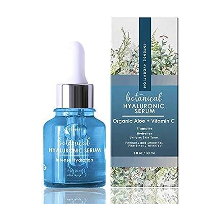 Hyaluronic Acid Serum for Face, Repairs Damaged Skin, With Vitamin C, E, Jojoba Oil, Witch Hazel. (Anti Aging Formula)