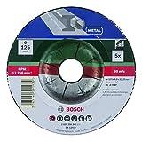 Bosch DIY Schruppscheibe Metall für Winkelschleifer (5 Stück, Ø 125 mm)