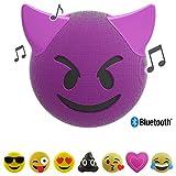 Jamoji Bluetooth Haut-parleur avec Éclairage LED - Trouble - Diable aux cornes Smiley Emoticon Emoji - Haut-parleur sans Fil -...