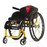 Wheelchair Deportes Silla de Ruedas, diseño ergonómico Luz Doble Super Light aleación...