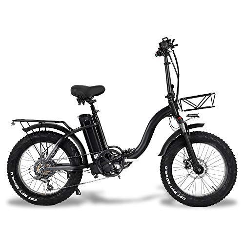 CMACEWHEEL Y20 Bicicleta de Nieve eléctrica Plegable, Motor 750W, batería 48V 15Ah...