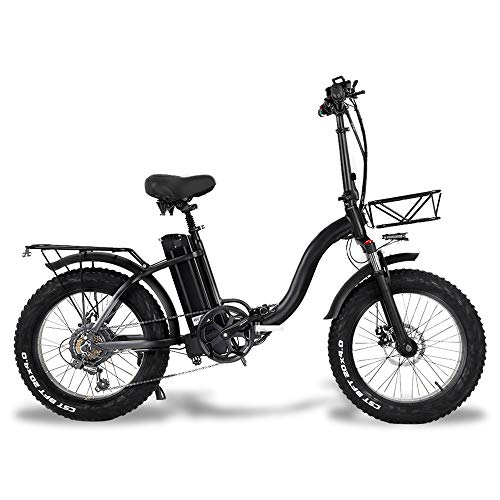 CMACEWHEEL Y20 Vélo de Neige électrique Pliant, Moteur 750W,