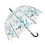 Dream Catcher Parapluie Transparent Apollo Cage à Oiseaux Parapluie Semi-Auto dôme Bulle Parapluie personnalité Cadeau créatif (Bleu)