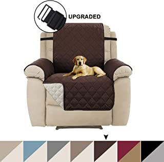 Turquoize Recliner Sofa Slipcover Reversible Sofa Cover Furniture Protector for Large Recliner Cover with 2