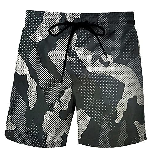 ShFhhwrl Pantaloncini Comodi e Traspiranti Pantaloncini da Uomo Pantaloncini mimetici Militari da Uomo Pantaloni Corti Larghi Casuali