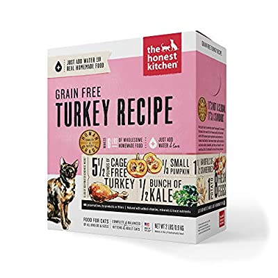 The Honest Kitchen Human Grade Dehydrated Grain Free Turkey Cat Food 2 lb - Grace