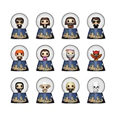 From Funko, Harry Potter Mystery Mini Snow Globes! Real Mini Snow Globes featuring you favorite Harry Potter characters With each purchase you will reveice one random mystery mini Snow Globe. Mini Snow Globe comes in blind packaging