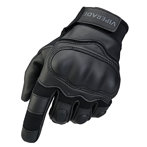 Mens Tactical Gloves   Viperade Military Rubber Hard Knuckle Outdoor Glove   Heavy Duty Glove   Airsoft Glove   Best for Cycling Hiking Camping Powersports (Black,L)