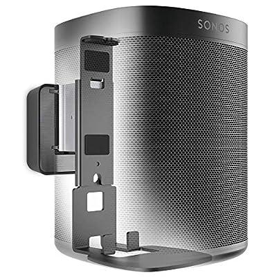 Vogel's SOUND 4201 speaker wall bracket for Sonos One and One SL, Max. 11 lbs (5 kg), Tiltable -30º/+30º, Swivels up to 70º (left/right), Also fits Sonos PLAY:1, Black, 1 bracket by Vogels