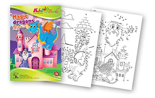 QuackDuck Malbuch Magic Dragons - Dot to Dot 1-120 - Drachen und Märchen- von Punkt zu Punkt 1-120 - ab 6 Jahre (4004)