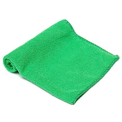 egfsha 5 Stück grünes Reinigungstuch Mikrofaser-Autodetail Weiches Mikrofaser-Frottiertuch für die Auto- oder Küchenreinigung