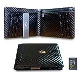Cartera Wolves – Cartera para hombre pequeña – Delgada y elegante – Porta tarjetas de crédito – Bloqueo RFID y NFC Card Protector – Diseño italiano