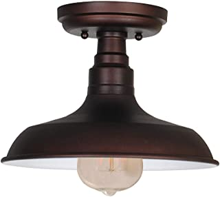 Design House 519884 Kimball 1 Semi Flush Mount Ceiling Light, Coffee Bronze