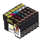 AUBEN Cartuchos de Tinta para Epson 29 XL Compatible con XP-235 XP-245 XP-247 XP-255 XP-342 XP-332 XP-335 XP-345 XP-355 XP-352 XP-432 XP-435 XP-442 XP-445 XP-452 (3 Negro,1 Cian,1 Magenta,1Amarillo)