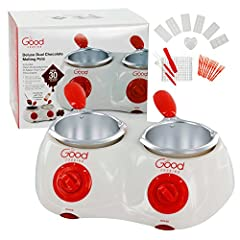 Chocolate Melting Pot - Melts up to 2 cups of chocolate without water! Works with any type of chocolate! Electric Melter Pot - Comes with over 30 accessories, including 7 chocolate molds, fondue forks, and more! Fondue Pot Set - Melts chocolate and k...