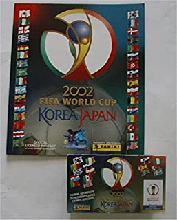 Panini 2002 World Cup Stickers Full Box of 100 Packets Plus Official Album