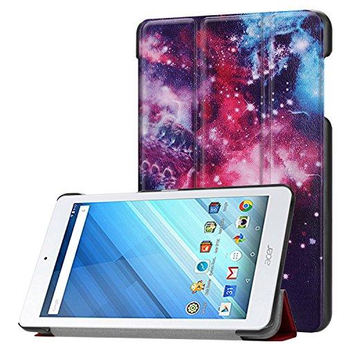 Acer Iconia One 8 B1-860 Hülle Case,Tri-Fold Ultra Dünn PU Leder Schutzhülle Handschlaufe Cover mit (Auto Sleep/ Wake) Etui Fall Shell Tasche für 8