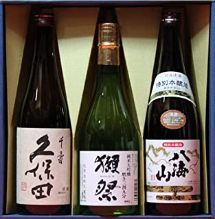 【ギフト】日本酒 久保田 千寿 獺祭(だっさい)純米大吟醸 磨き三割九分 八海山 本醸造 720ml 感謝(和紙シール)
