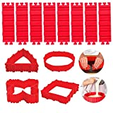 8 Pack Silicone Cake Mold Magic Cake Shapers Snake DIY Baking Tool Cake Strips for Even Baking, Nonstick Cake Pan Heart Round Shape Cake mould for Any Shape