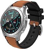 Reloj inteligente clásico Bluetooth de monitoreo de llamada de frecuencia cardíaca y presión arterial múltiples modos deportivos podómetro impermeable Ip67 reloj inteligente marrón desgaste diario